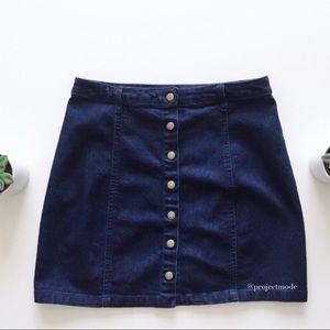 Forever 21 Button-Front Denim Skirt Size S